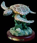 Sea Turtle Flight Figurine