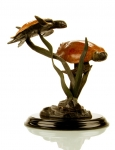 """Signature Series"" Duo Sea Turtles Large Sculpture"
