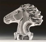 Horse Head Leaded Crystal Sculpture