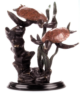 """Signature Series"" Duo Sea Turtles Medium Sculpture"