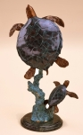 Mother and Baby Sea Turtle Sculpture