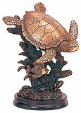 Copper Coated Sea Turtle Sculpture