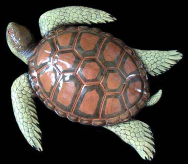 "15"" Sea Turtle Wall Statue #B"