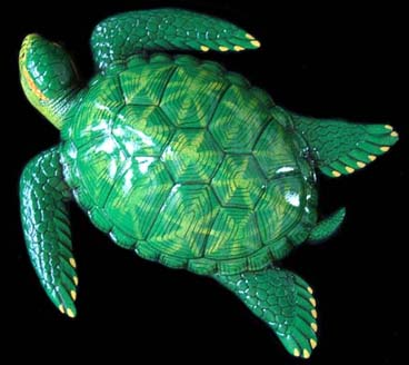 "15"" Sea Turtle Wall Statue #D"