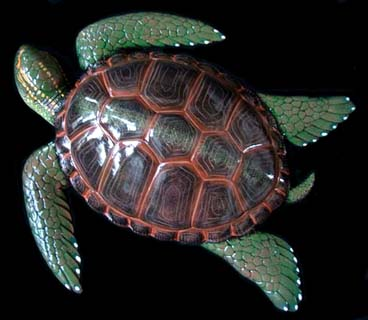"15"" Sea Turtle Wall Statue #F"