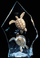 """Intrepid Spirit"" Sea Turtles Sculpture"