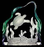 Sea Turtle TransLucite Sculpture